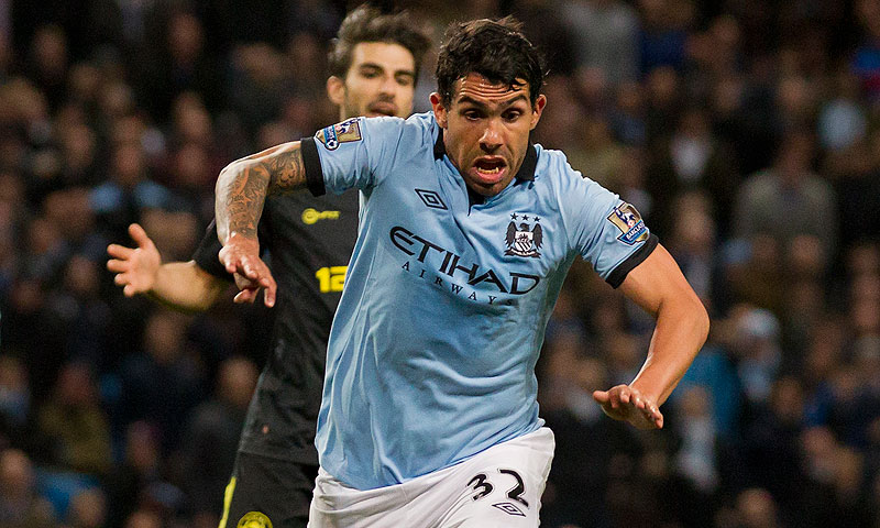 Carlos Tevez. -Photo by AP