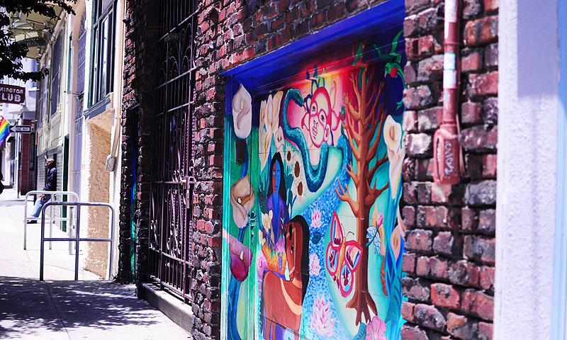 Visiting Mission District alleys is like visiting an art gallery.