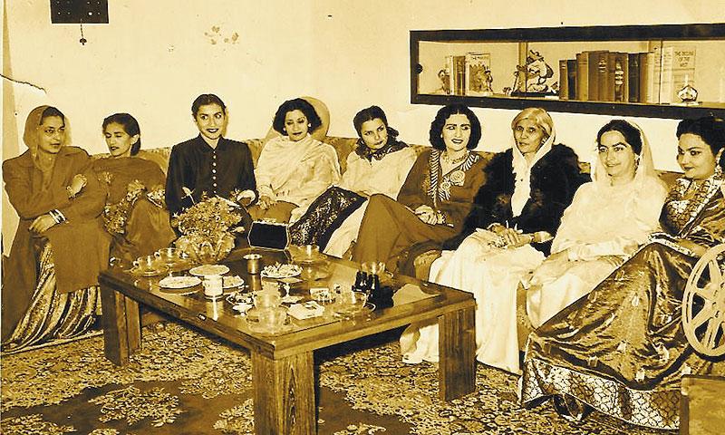 Fatima Jinnah among Lahore's socialites.