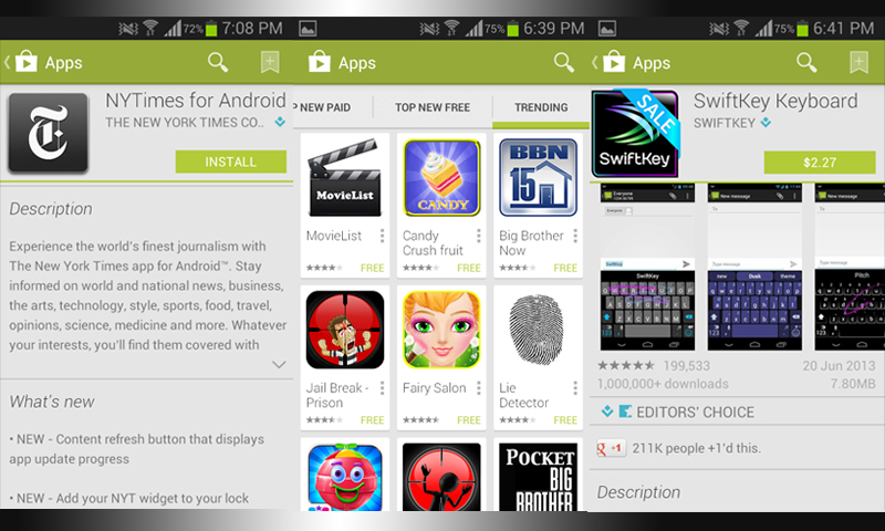 Image shows a picture montage of various screenshots from the Google Play store. — Bilal Brohi / Spider Magazine