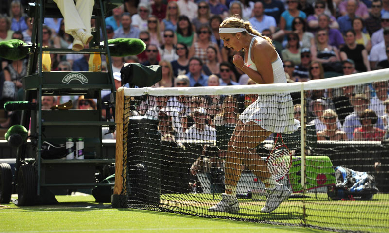 As the final set bore on, Lisicki's swift movement proved costly for Radwanska