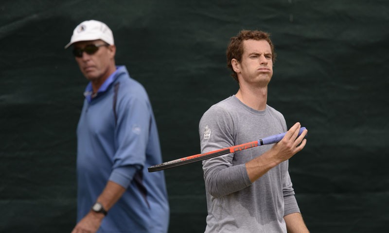 Britain's hope Andy Murray trained with iconic coach Ivan Lendl ahead of his semi-final match on Friday