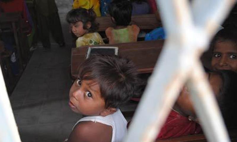 This file photo shows a classroom in Tharparkar. – Photo by Hussain Afzal / Dawn.com