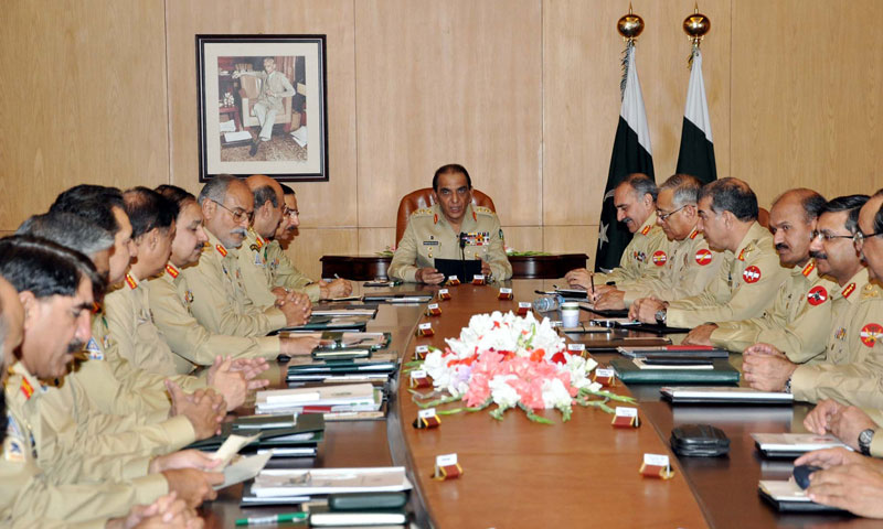 Chief of army staff General Ashfaq Parvez Kayani presides over the 162nd Corps Commanders Conference at General Headquarters in Rawalpindi.—Online Photo