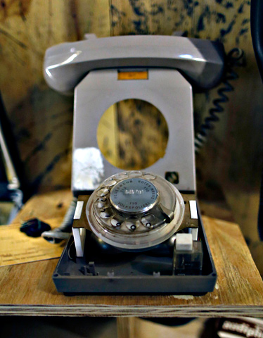 A telephone for eavesdropping is seen on display at the 'Top Secret' Spy Museum in Oberhausen.