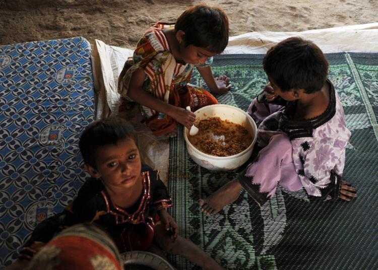 Eight of Sindh's 23 districts, most of them in the southern part of the province and in its coastal belt were identified as having 'extremely poor' conditions for access to food. -File photo
