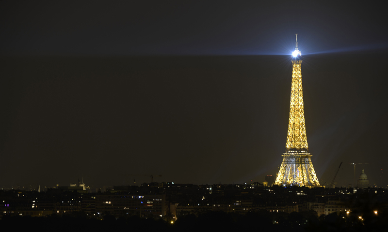 A picturew shows the Eiffel Tower in Paris on July 14, 2013 during France's annual Bastille Day celebrations. — AFP Photo