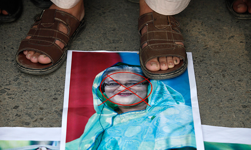 "They called Bangladeshi Prime Minister Sheikh Hasina an ""Indian sympathiser"". — Reuters"