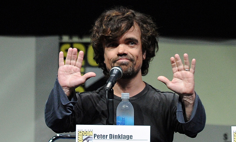 "Actor Peter Dinklage speaks onstage during the ""Game Of Thrones"" panel during Comic-Con International 2013 in San Diego, California.—Photo by AFP"