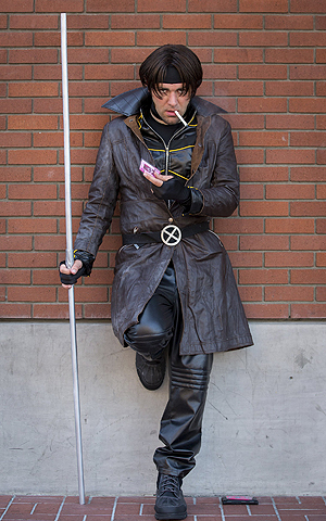 Cosplayer Evin Van Outryve poses while dressed as comic book character Gambit during the 2013 San Diego Comic-Con (SDCC) International in San Diego, California.—Photo by Reuters