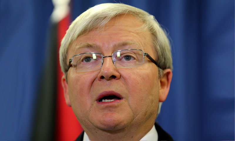 Australian Prime Minister Kevin Rudd.—Photo by AFP