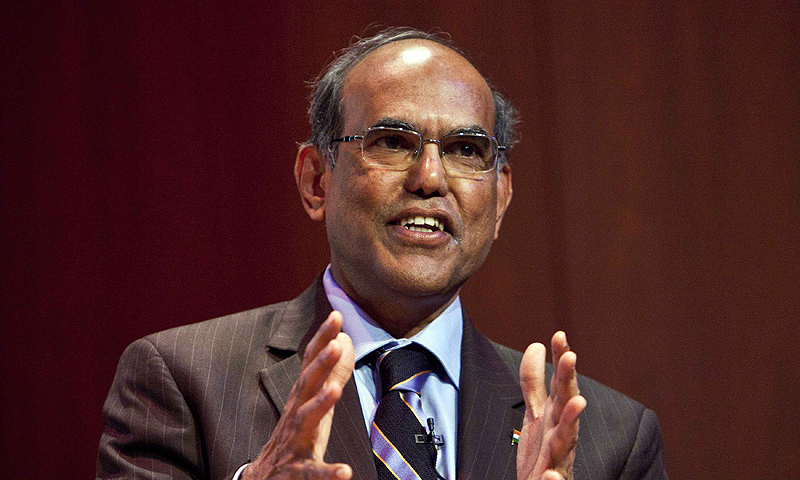 "Duvvuri Subbarao, governor of the Reserve Bank of India, speaks during ""The Citi Series on Asian Business Leaders"" at the Asia Society in New York in this August 29, 2012 file photo. The identity of India's next central bank chief remains a matter of speculation even as Reserve Bank of India Governor Subbarao scrambles to support an embattled rupee with less than seven weeks to go before he is due to leave office. An extension of Subbarao's tenure, once unlikely, has become a possibility as the rupee reels from a s"