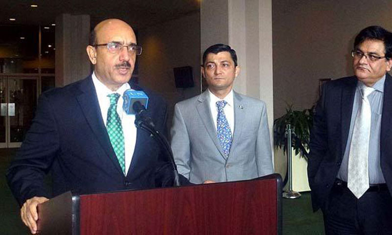 Pakistan's Ambassador to the United Nations Masood Khan.—File Photo