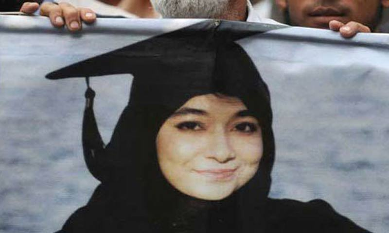The case of Dr Aafia Siddiqui became a rallying cry for religious parties in the country soon after her arrest. -File Photo