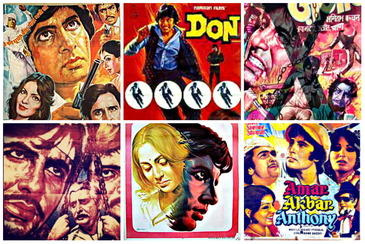 Amitabh Bachchan movie posters. — Compiled by Shameen Khan/Dawn.com
