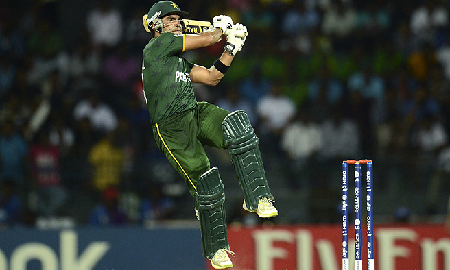 An unbeaten 46 by man of the match Umar Akmal pushed Pakistan to a competitive total. -Reuters/ File Photo