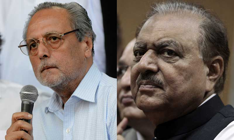 The two contenders for the presidential race were  Pakistan Tehrik-i-Insaaf (PTI's) Justice (retd) Wajihuddin Ahmed (L) and Pakistan Muslim League - Nawaz (PML-N) backed Mamnoon Hussain (R).— Photo by Agencies