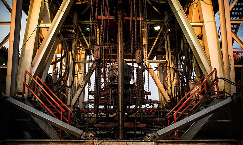 Raven Drilling's oil rig waits outside Watford City, North Dakota. North Dakota has been experiencing an oil boom in recent years, due in part to new drilling techniques including hydraulic fracturing and horizontal drilling. — AFP Photo