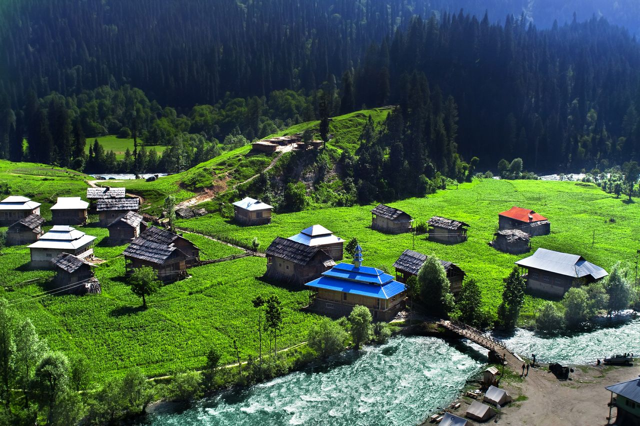An aerial view of Tao Butt, the last civilian valley of Azad Kashmir.