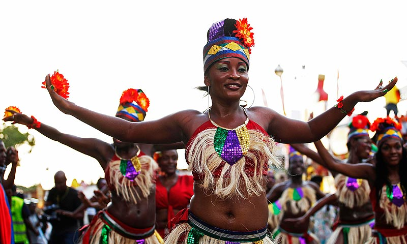 Haiti kicked off its mid-year Carnival party in the heart of the country's capital Sunday afternoon which lasted through the night. — Reuters Photo