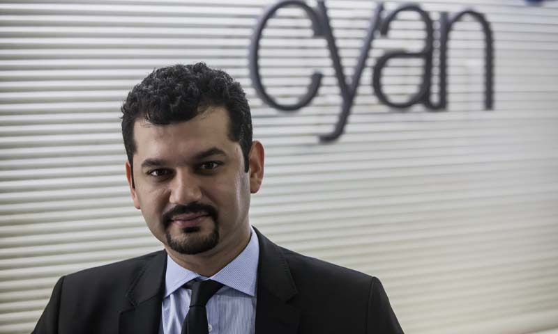 Shaharyar Ahmed, Principal and Co-Head of Growth Equity for Cyan Capital, poses for a photograph during a meeting at his office in Karachi July 19, 2013. — Photo by Reuters