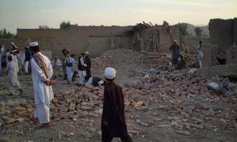 Post drone attack in Miranshah, Waziristan.—File Photo
