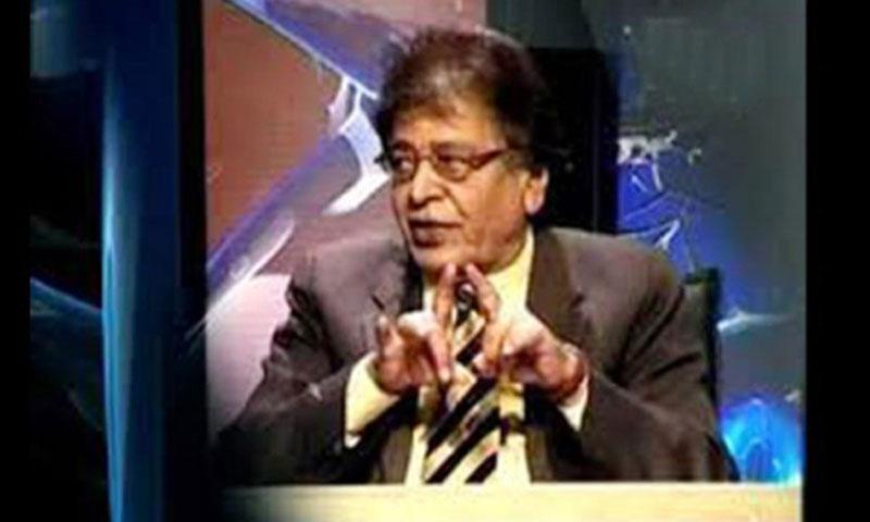 Video grab show 'Kasauti' host Quraish Pur.