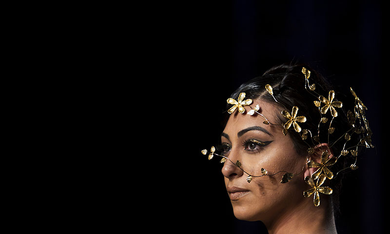 A creation by designer Gaurav Gupta during the Delhi Couture Week in New Delhi.—Photo by AP