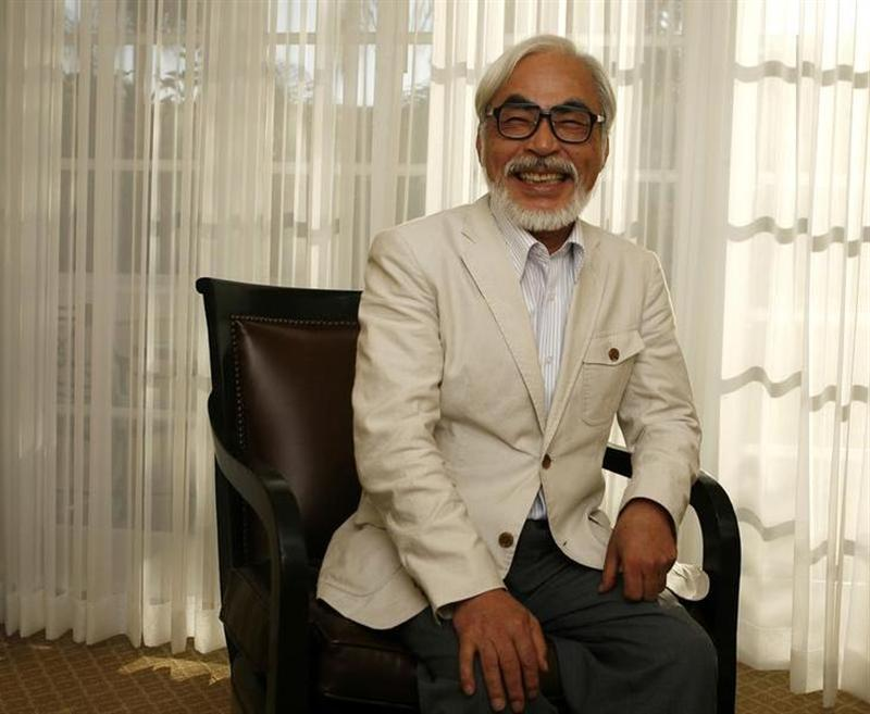 Japanese director Hayao Miyazaki of the animated movie ''Ponyo'' smiles as he poses for a picture in Los Angeles July 28, 2009. — Reuters Photo