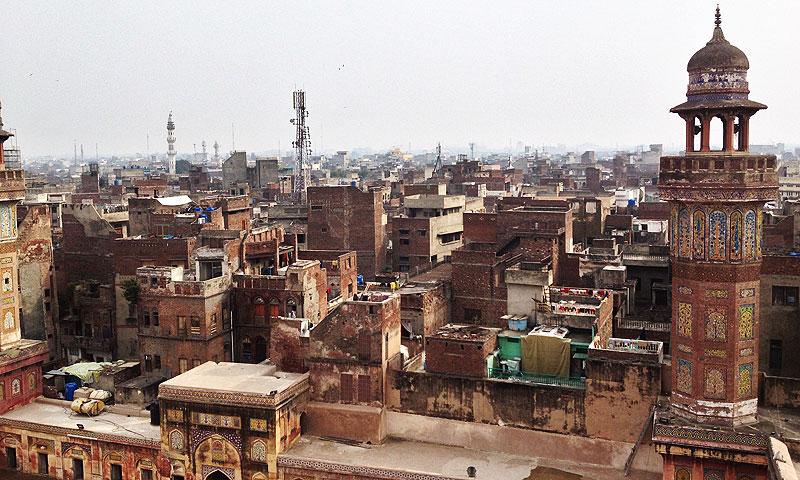 Kashmiri Bazaar as seen from Wazir Khan mosque. -Dawn.com