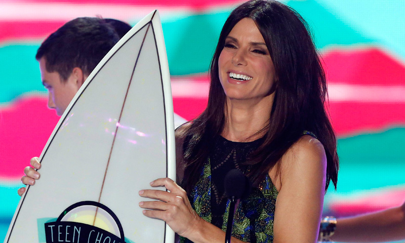 Actress Sandra Bullock accepts the Choice Summer Movie Star: Female Award.