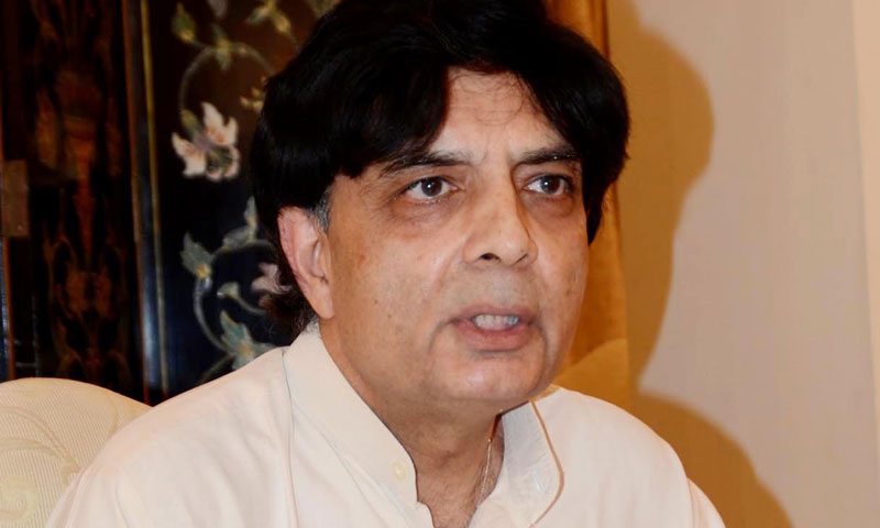 Interior Minister Chaudhry Nisar Ali Khan addresses a press conference in Islamabad on Tuesday. – INP Photo