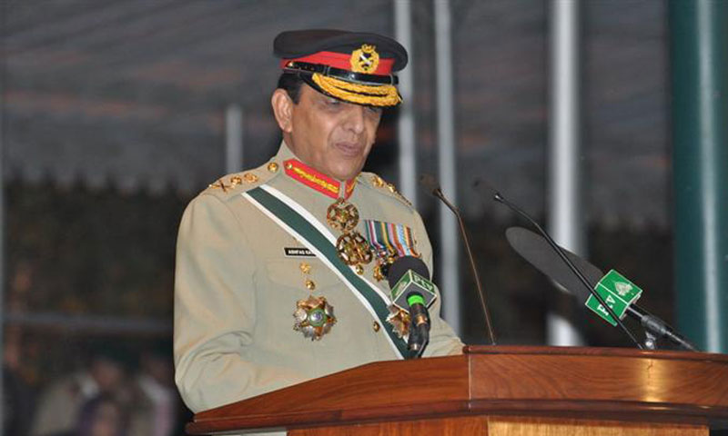 Speaking at the annual military parade at Kakul Military Academy in Abbottabad, Chief of the Army Staff General Ashfaq Pervez Kayani emphasised on early execution of steps against terrorism by evolving a national consensus. – Photo courtesy ISPR