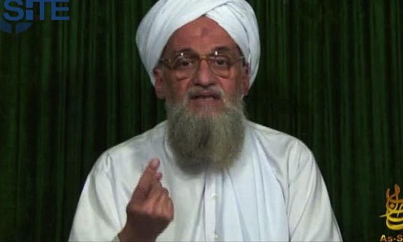 "Pakistani author and security analyst Imtiaz Gul said that while Al Qaeda's operational leadership had spread into regional franchises, Zawahiri (above)remained an ""inspirational force."" — File Photo by AP"