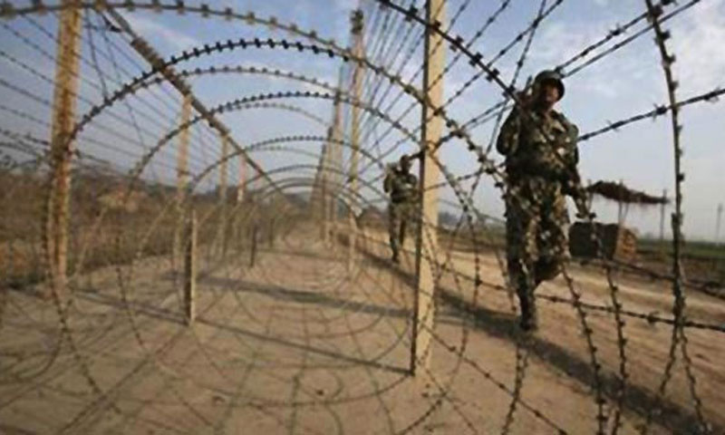 This picture shows an Indian army soldier near the heavily militarised Line of Control (LoC). — Photo by Reuters