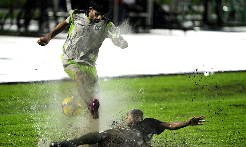 Pakistan will be the first international football team to visit Afghanistan after a gap of 10 years. -Photo by AFP