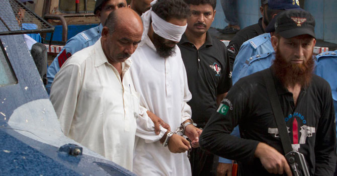 Hafiz Mohammed Khalid Chishti, the imam of the mosque in Rimsha's area, who first accused the young girl of buning pages of the Holy Quran last year and later gave police the burned papers as evidence against her.   — File Photo by Reuters