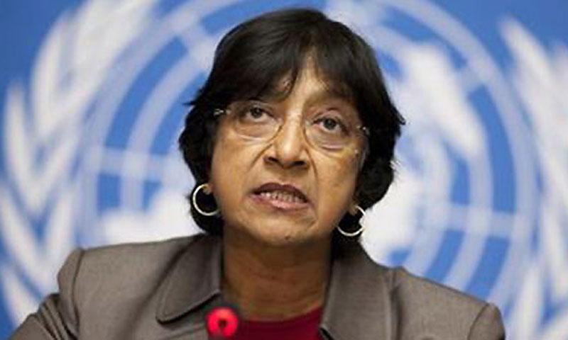 "UN High Commissioner for Human Rights Navi Pillay said she was ""seriously concerned about human rights implications for the protection of civilians of armed drone strikes.""—AFP Photo"