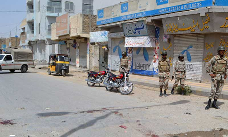 Commandant FC, Colonel Maqbool told reporters that the forces seized a huge quantity of explosive material during a raid at a warehouse in New Addah area of Quetta on Tuesday. – File Photo