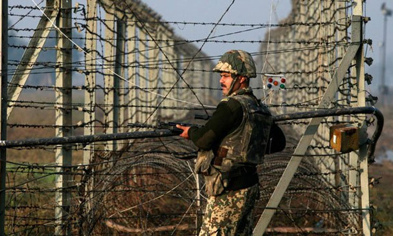 The photo shows an Indian soldier near the Line of Control. — File/Reuters