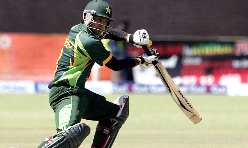 Mohammad Hafeez smashed 70 off 71 balls to propel Pakistan. -Photo by AFP