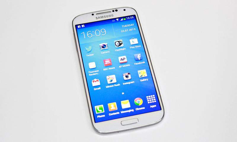 Samsung Galaxy S4 Pictured. — Bilal Brohi Photo