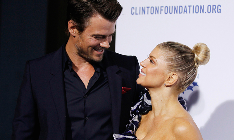 "Actor Josh Duhamel (L) and his wife singer Fergie arrives at The Clinton Foundation Gala in celebration of the organization's ""Decade of Difference"" in Los Angeles in this October 14, 2011, file photo. - Photo by Reuters"