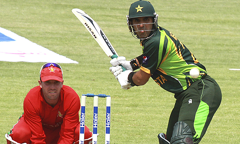 Misbah made 67 off 85 balls with six boundaries. -Photo by AP