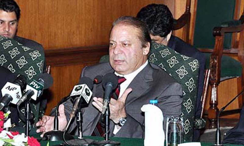 Prime Minister Muhammad Nawaz Sharif. — Photo by APP
