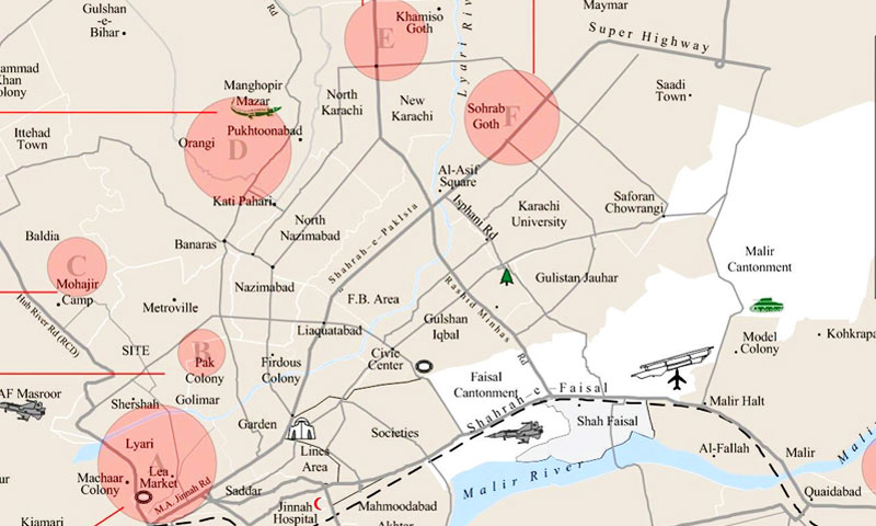 Eight most violent flashpoints in Karachi