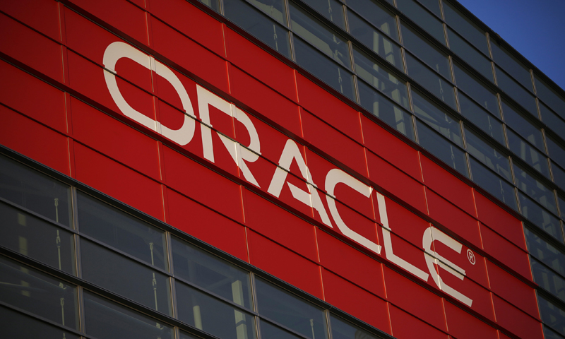 Oracle signage is seen outside Mocsone Center during Oracle OpenWorld 2012 in San Francisco, California. — Reuters Photo