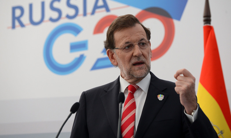 Spain's Prime Minister Mariano Rajoy speaks at a press conference at the end of the G20 summit. –Photo by AFP