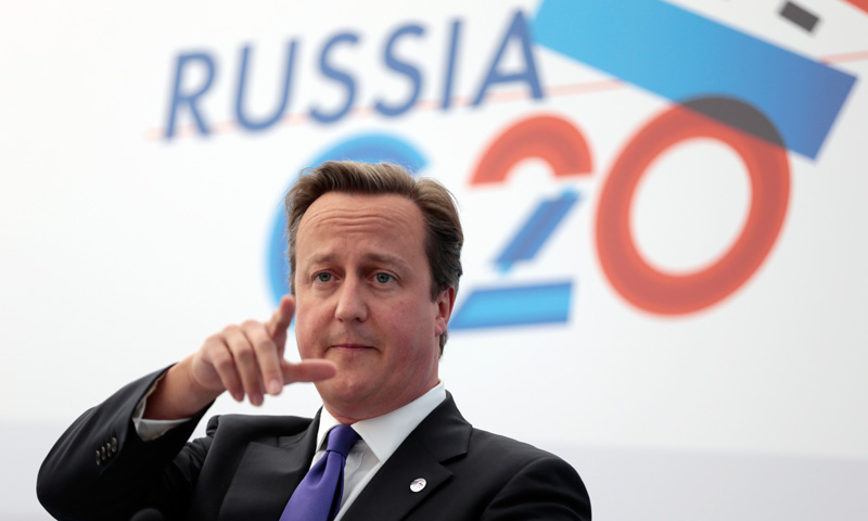 British Prime Minister David Cameron gestures while speaking during a media conference. –Photo by AP