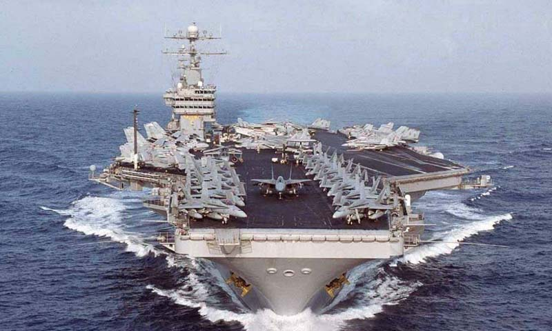 The aircraft carrier USS Nimitz. — File Photo
